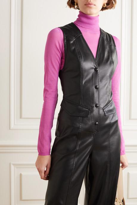Freya vegan leather jumpsuit