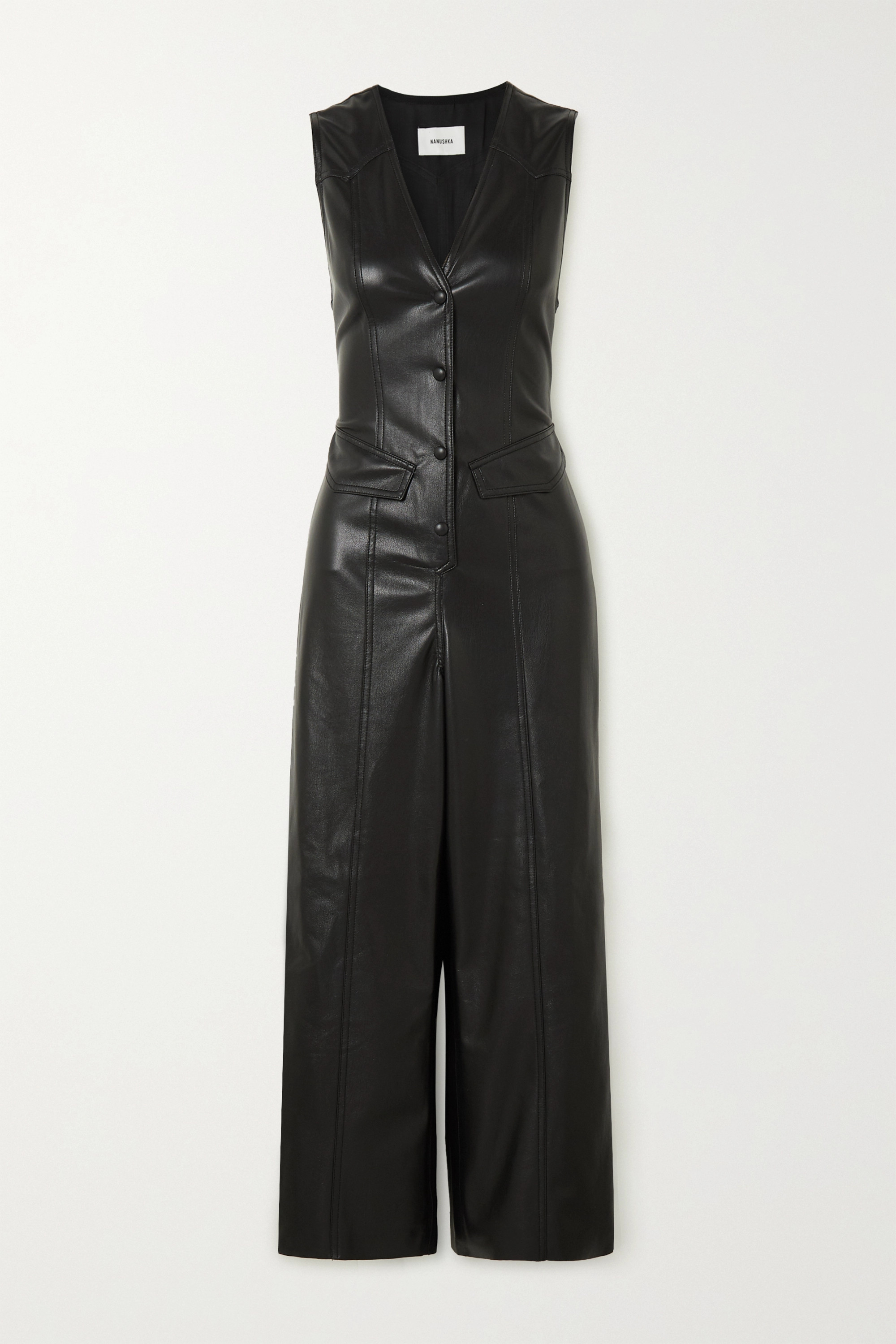 Nanushka Freya vegan leather jumpsuit