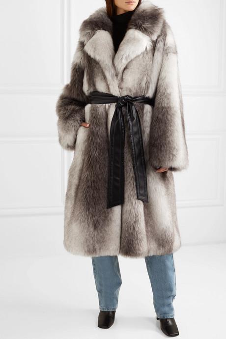 + Pernille Teisbaek Clara oversized belted faux fur coat