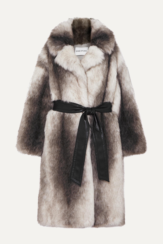 Stand Studio + Pernille Teisbaek Clara oversized belted faux fur coat