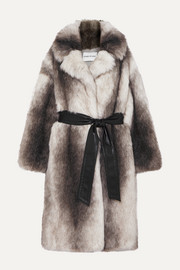 Stand Studio + Pernille Teisbaek Clara oversized belted faux fur coat