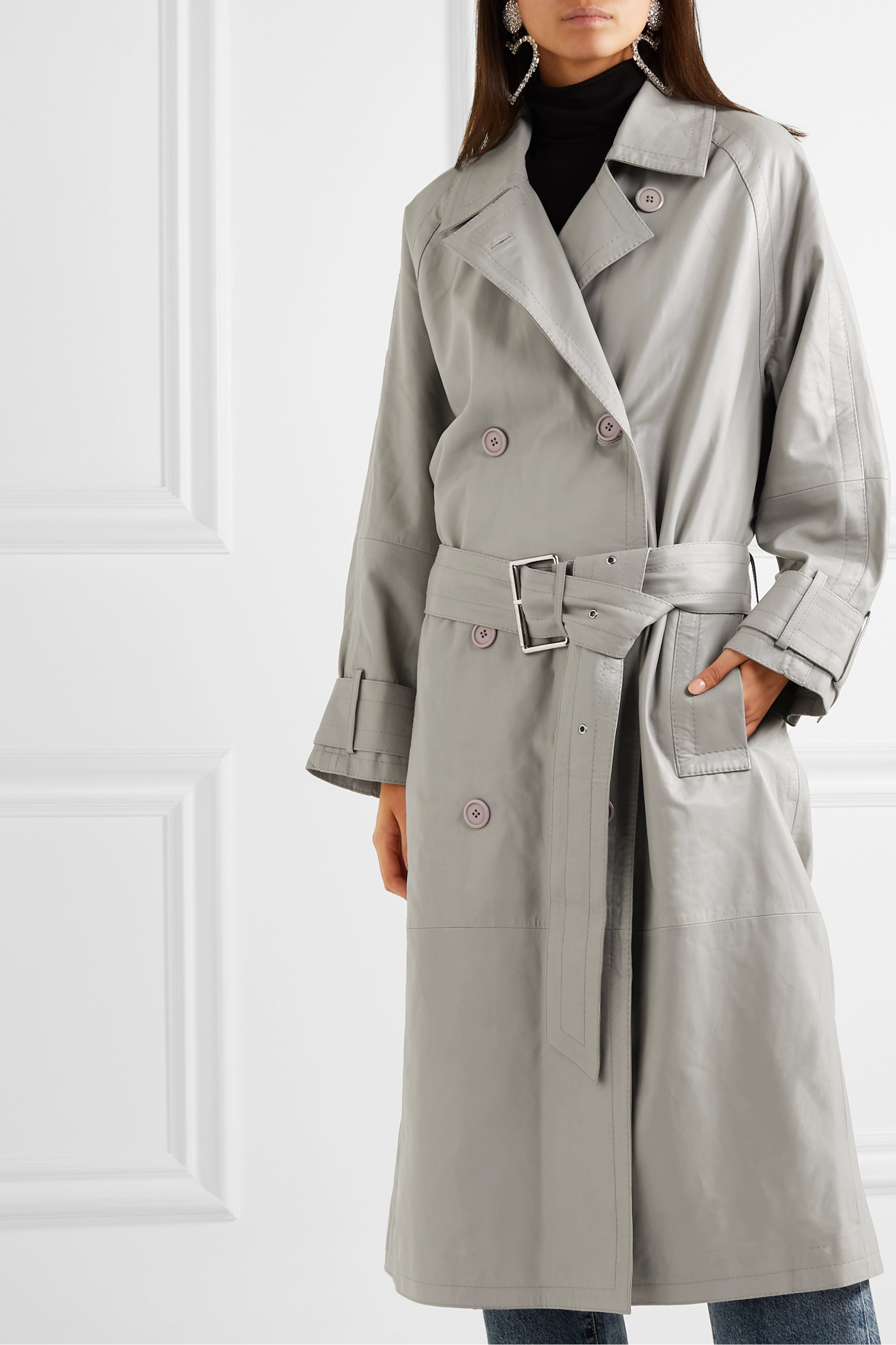 Stand Studio + Pernille Teisbaek  Shelby leather trench coat