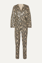 Stand Studio + Pernille Teisbaek Amiya snake-effect faux leather jumpsuit