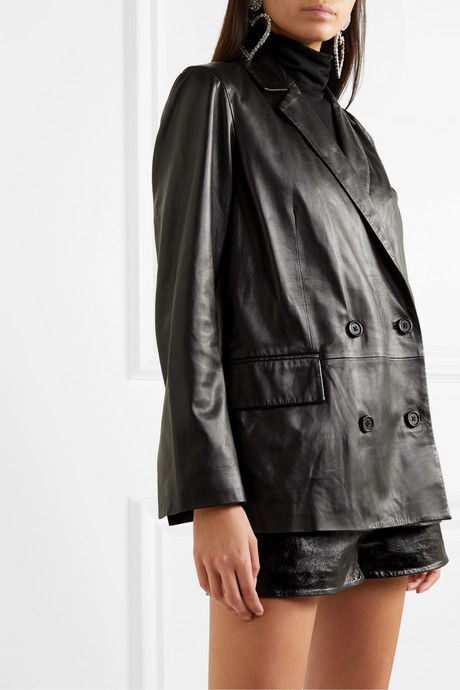 + Pernille Teisbaek Cassidy double-breasted leather blazer