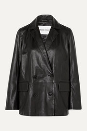 Stand Studio + Pernille Teisbaek Cassidy double-breasted leather blazer