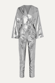 Stand Studio + Pernille Teisbaek Amiya metallic faux leather jumpsuit