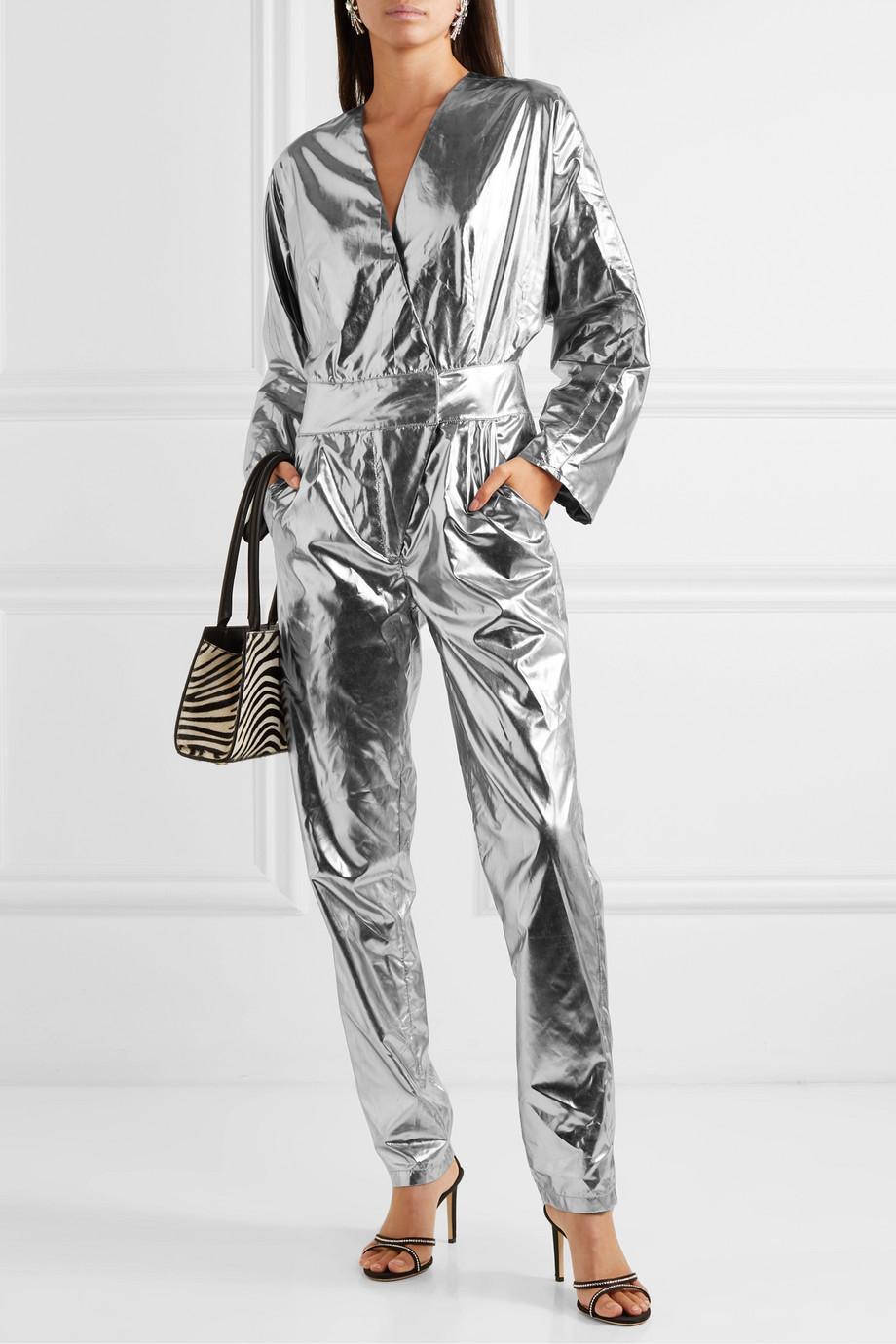 Stand Studio + Pernille Teisbaek Amiya metallic faux leather jumpsuit