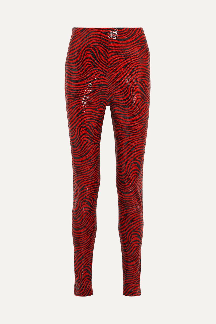 Stand Studio + Pernille Teisbaek Tabitha zebra-print faux leather skinny pants