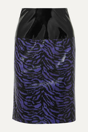 + Pernille Teisbaek Marlee zebra-print faux leather skirt