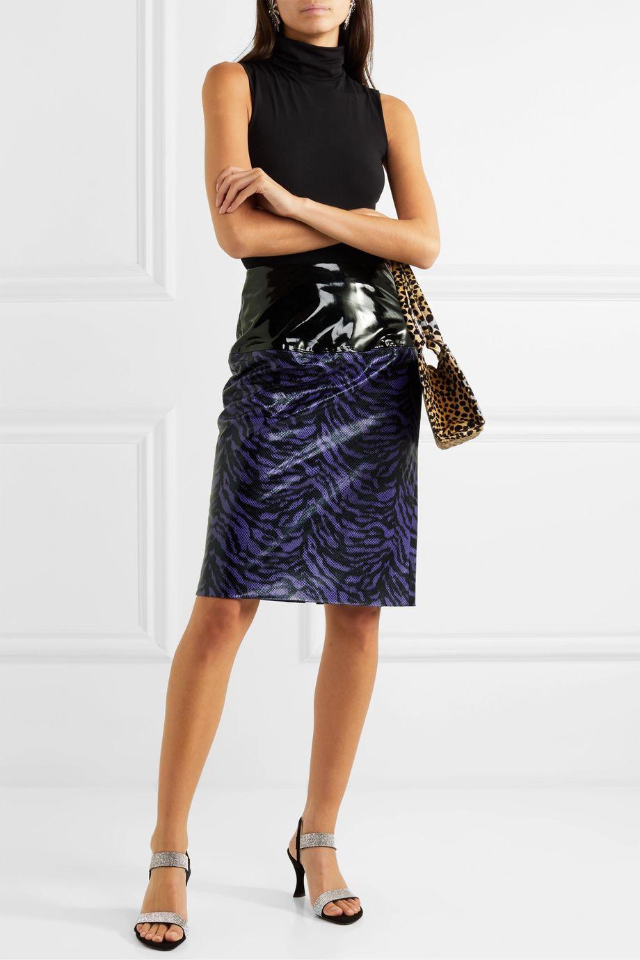 Stand Studio + Pernille Teisbaek Marlee zebra-print faux leather skirt