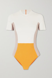 Cheyenne color-block swimsuit