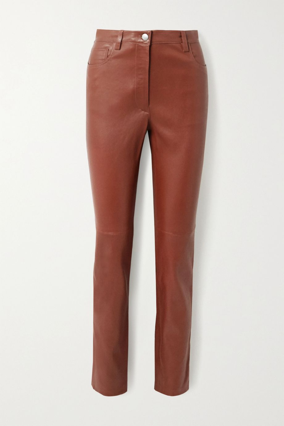 Joseph Cindy leather slim-leg pants