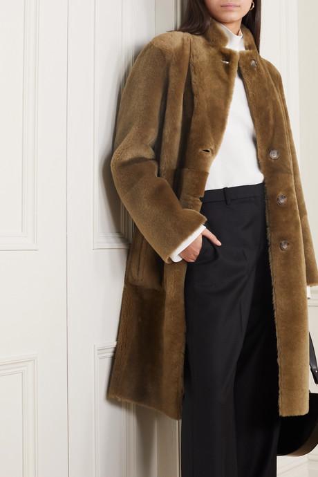 Brittany reversible shearling coat