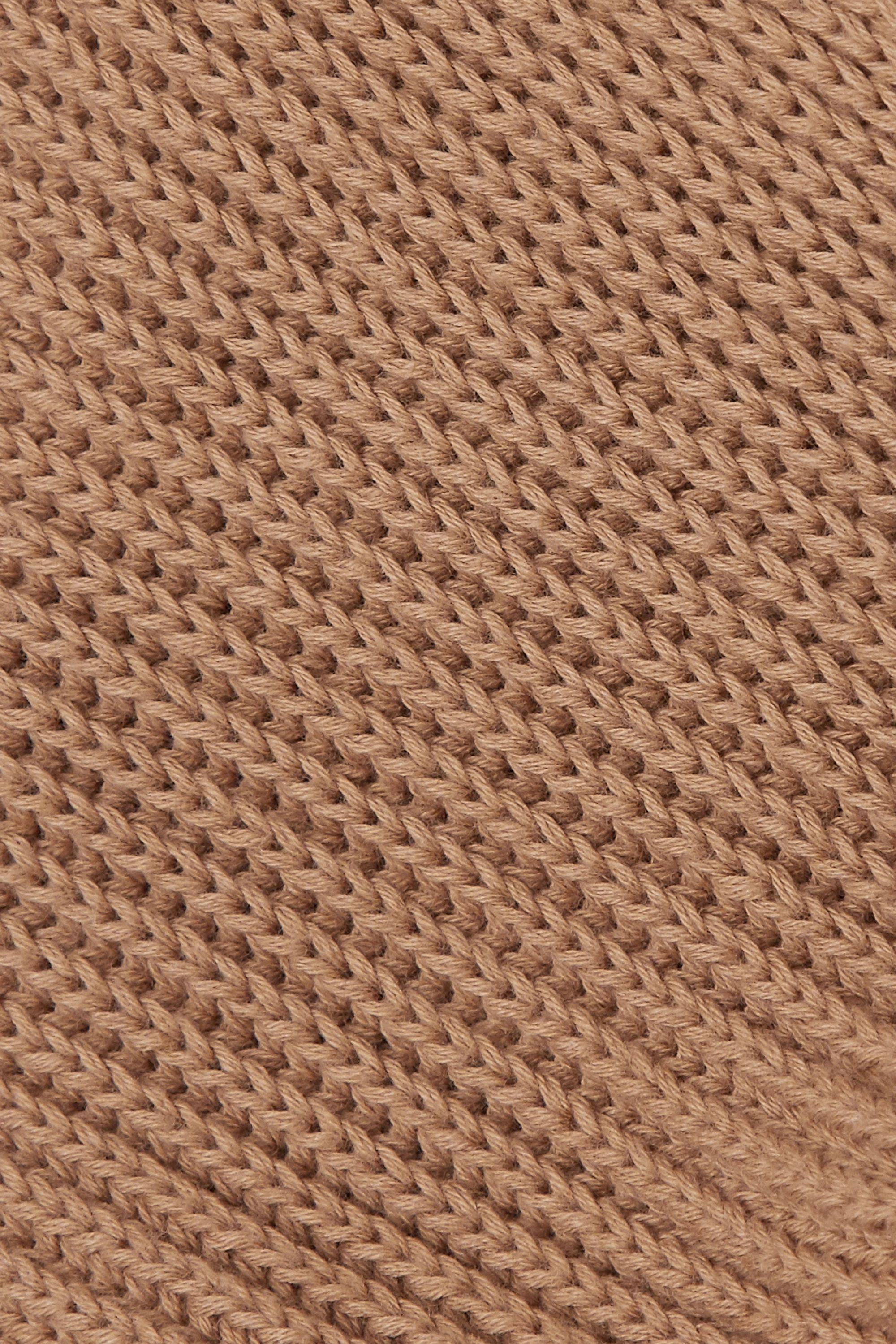 Joseph Cote Anglaise tie-detailed ribbed cotton sweater