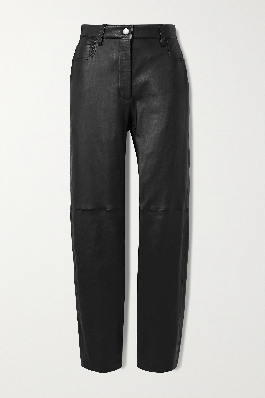 Joseph Cindy paneled leather straight-leg pants