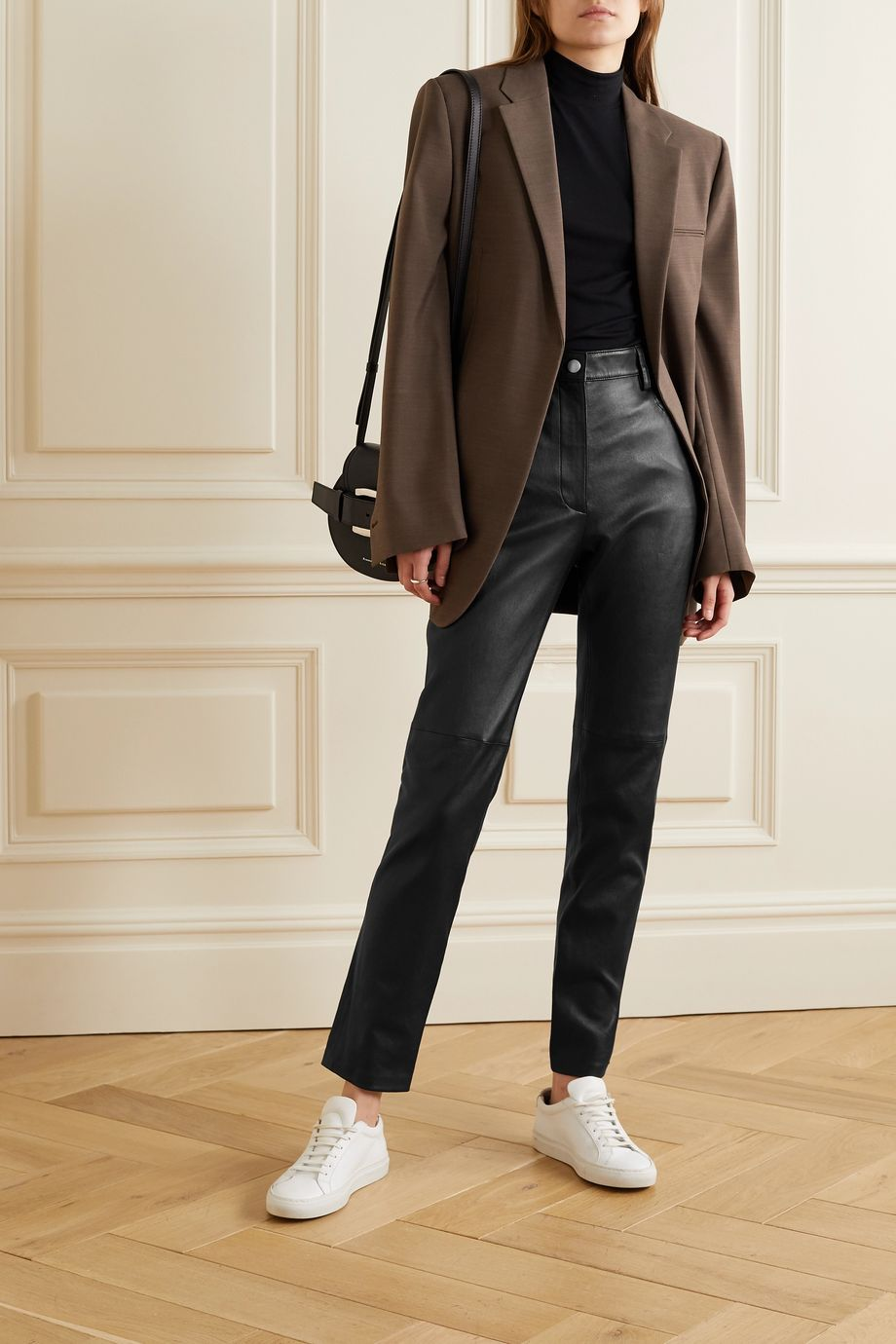 Joseph Cindy paneled leather straight-leg pants