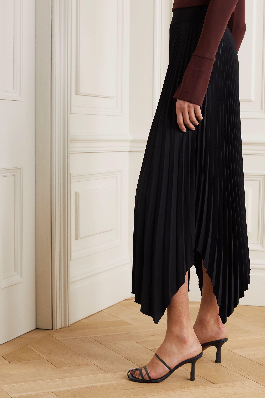 Joseph Ade asymmetric plissé-crepe midi skirt