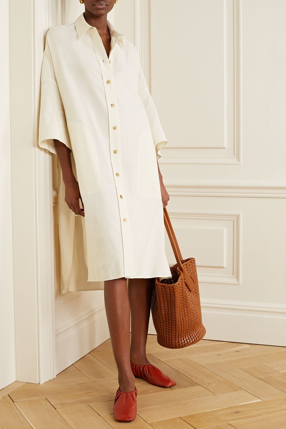 Joseph Baker cotton and linen-blend dress
