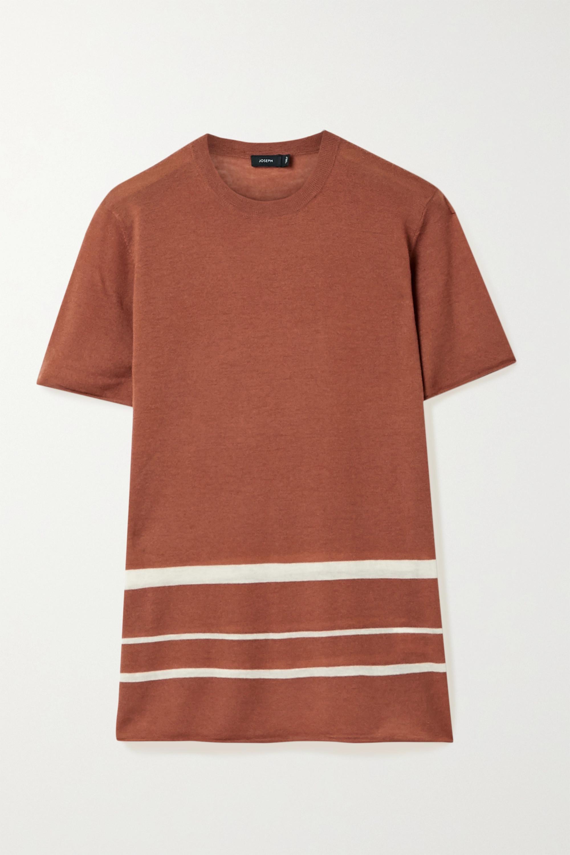 Joseph Striped stretch-cashmere T-shirt