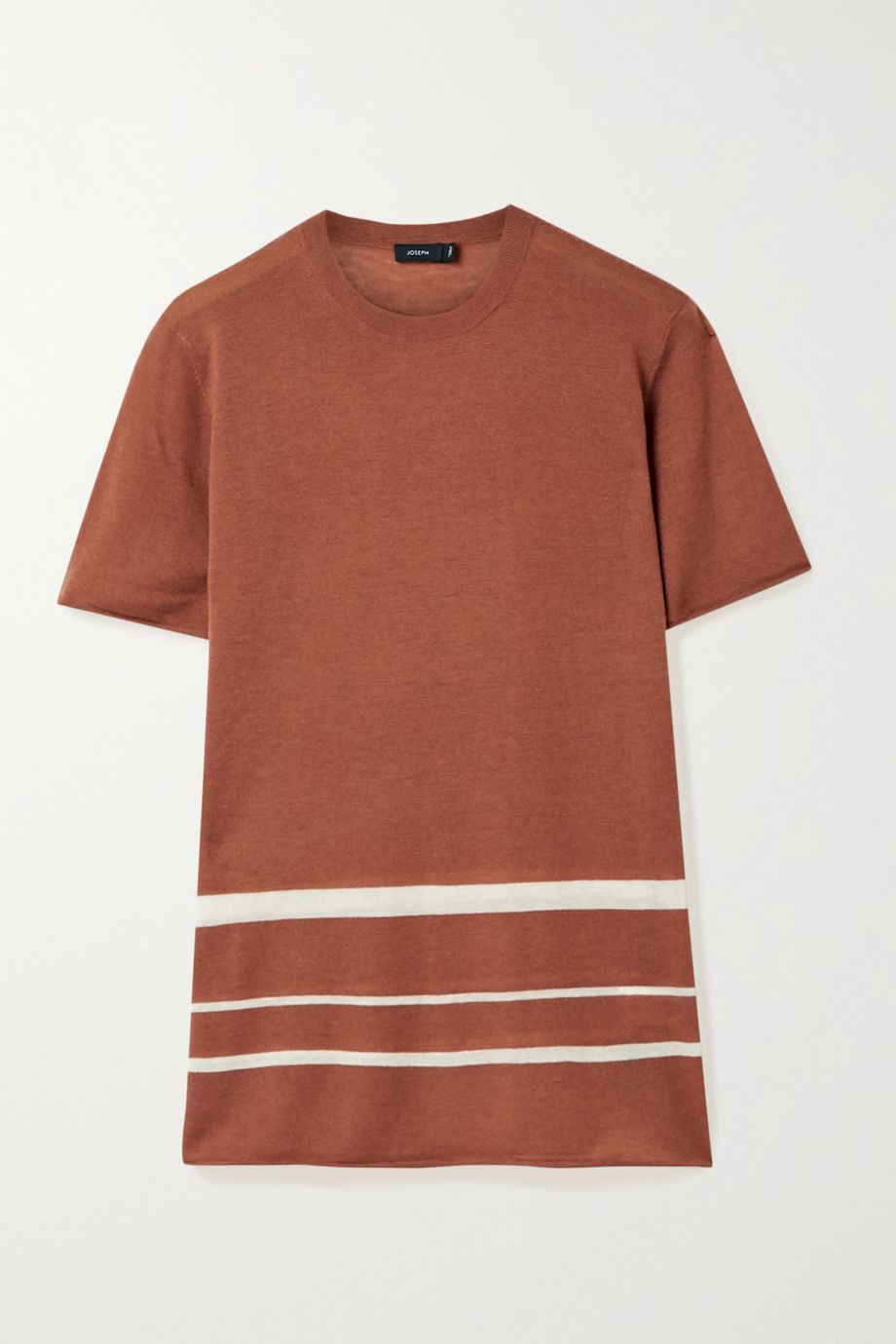 Joseph Striped stretch-cashmere T-shirt