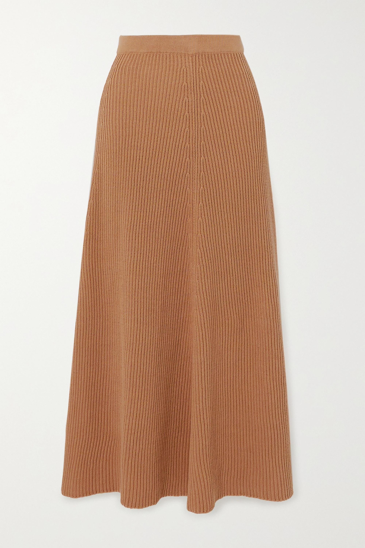 Joseph Ribbed cotton midi skirt