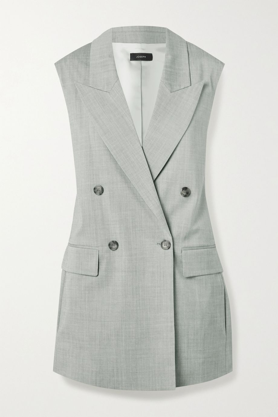 Joseph Zappa double-breasted stretch-wool vest