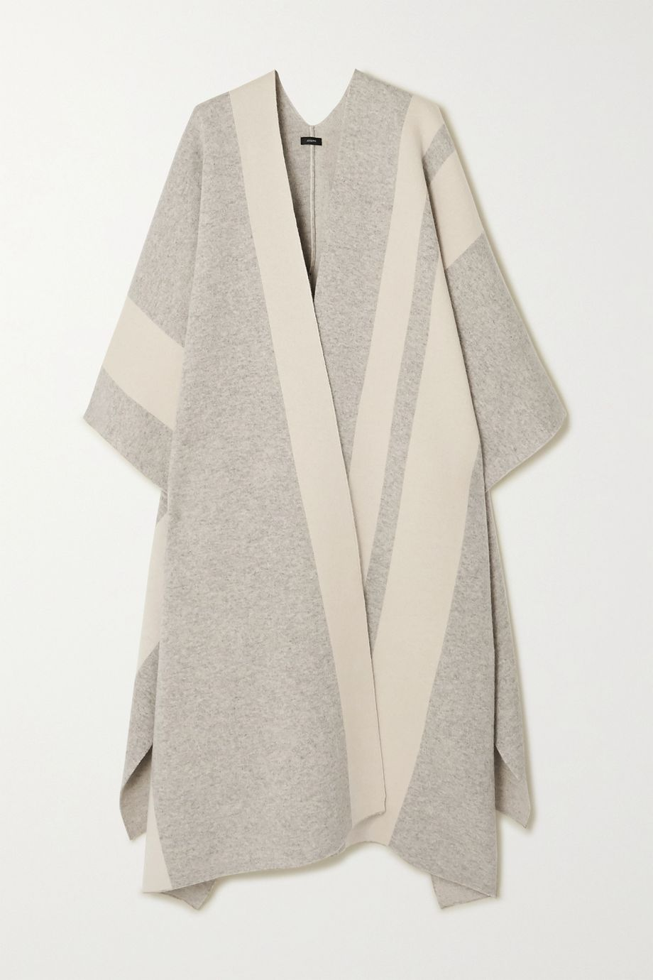 Joseph Striped wool-blend cape