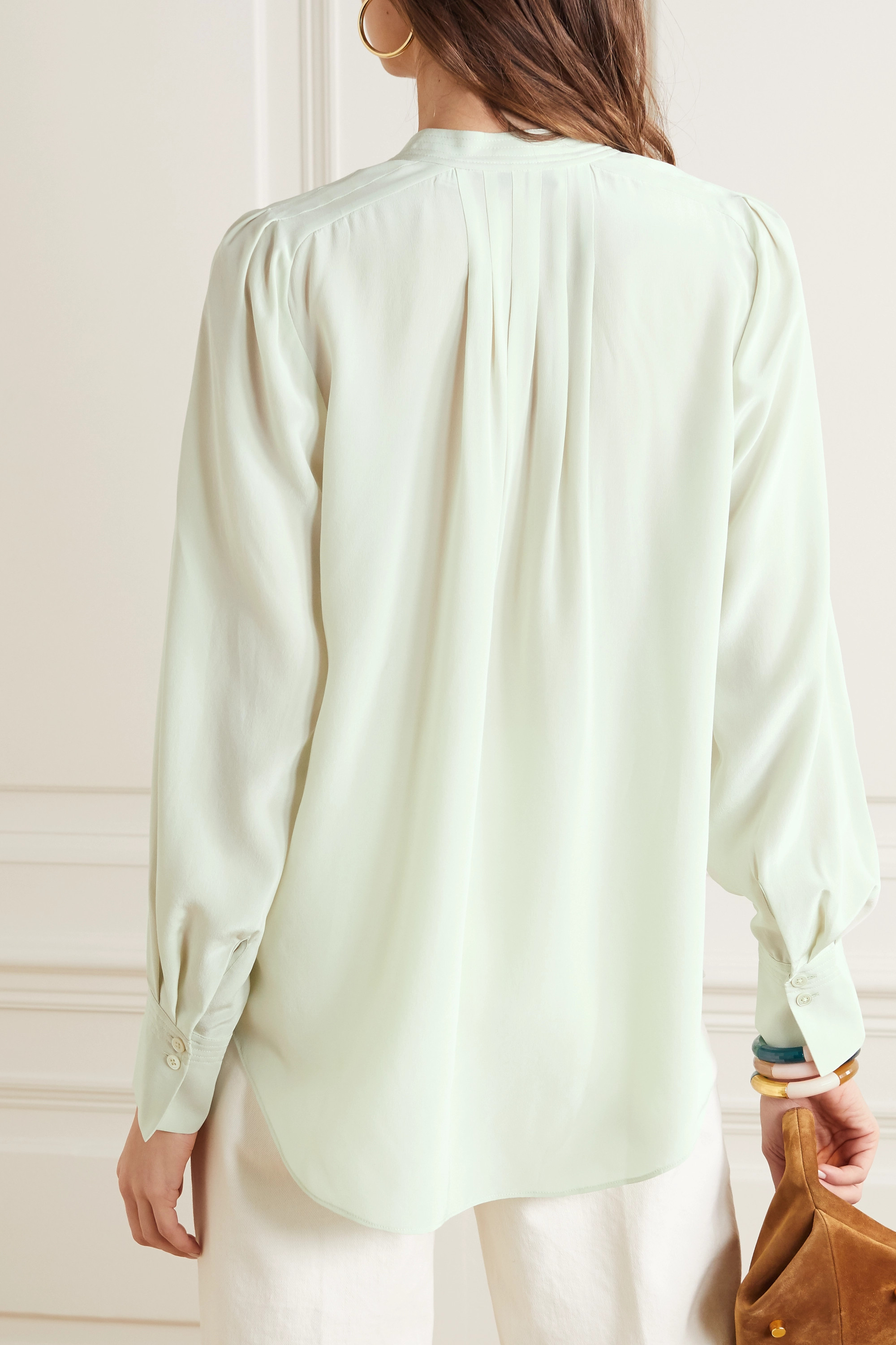 EQUIPMENT Perce pleated silk shirt