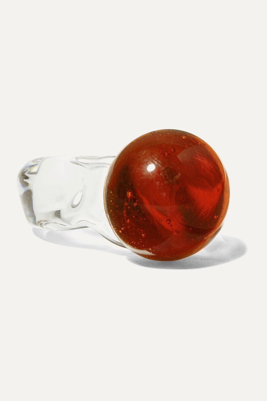 Maryam Nassir Zadeh Sphere glass ring