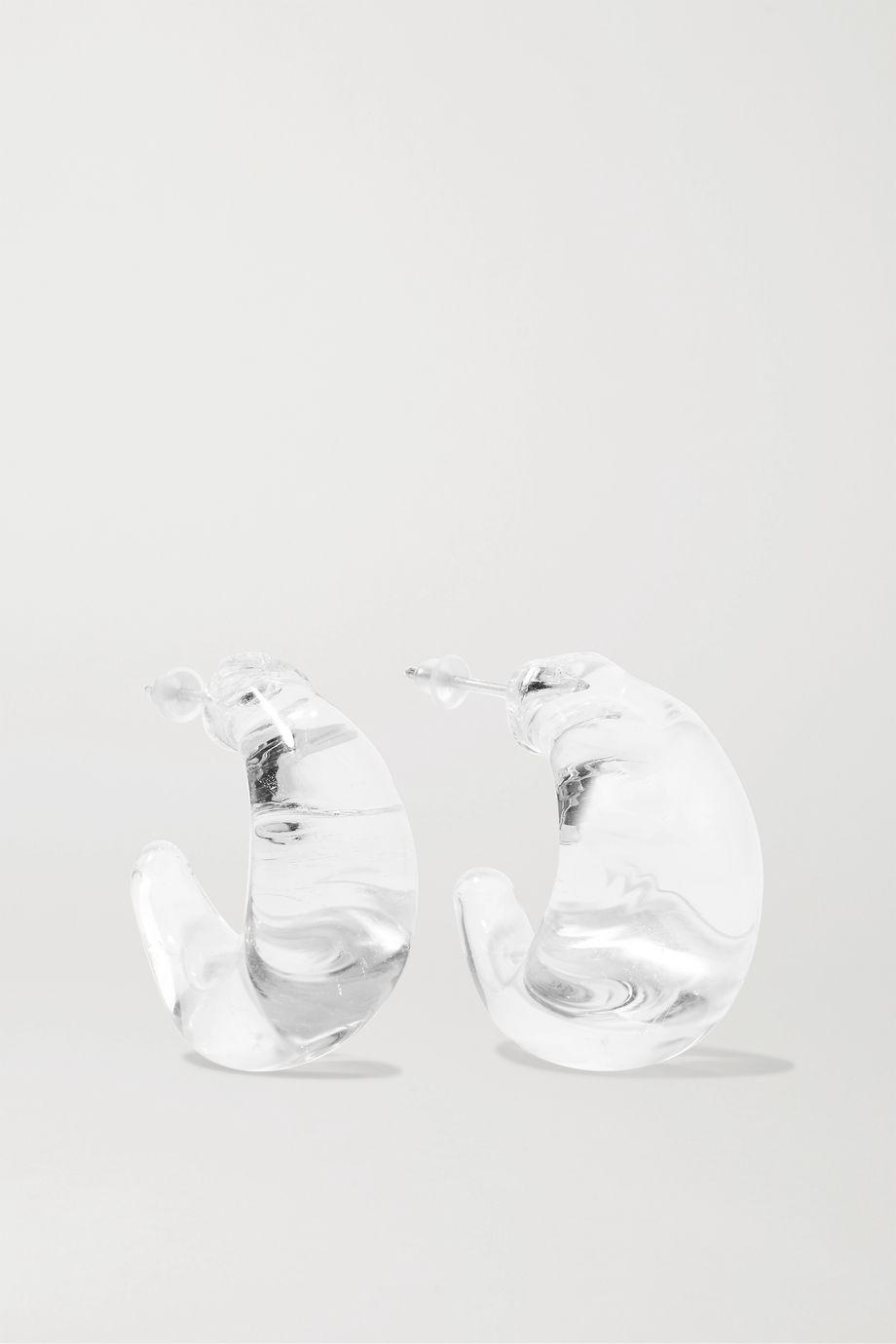 Maryam Nassir Zadeh Silver-tone glass hoop earrings