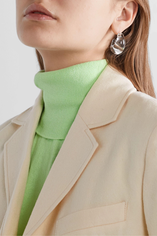 Maryam Nassir Zadeh Creolen aus Glas mit silberfarbenen Details