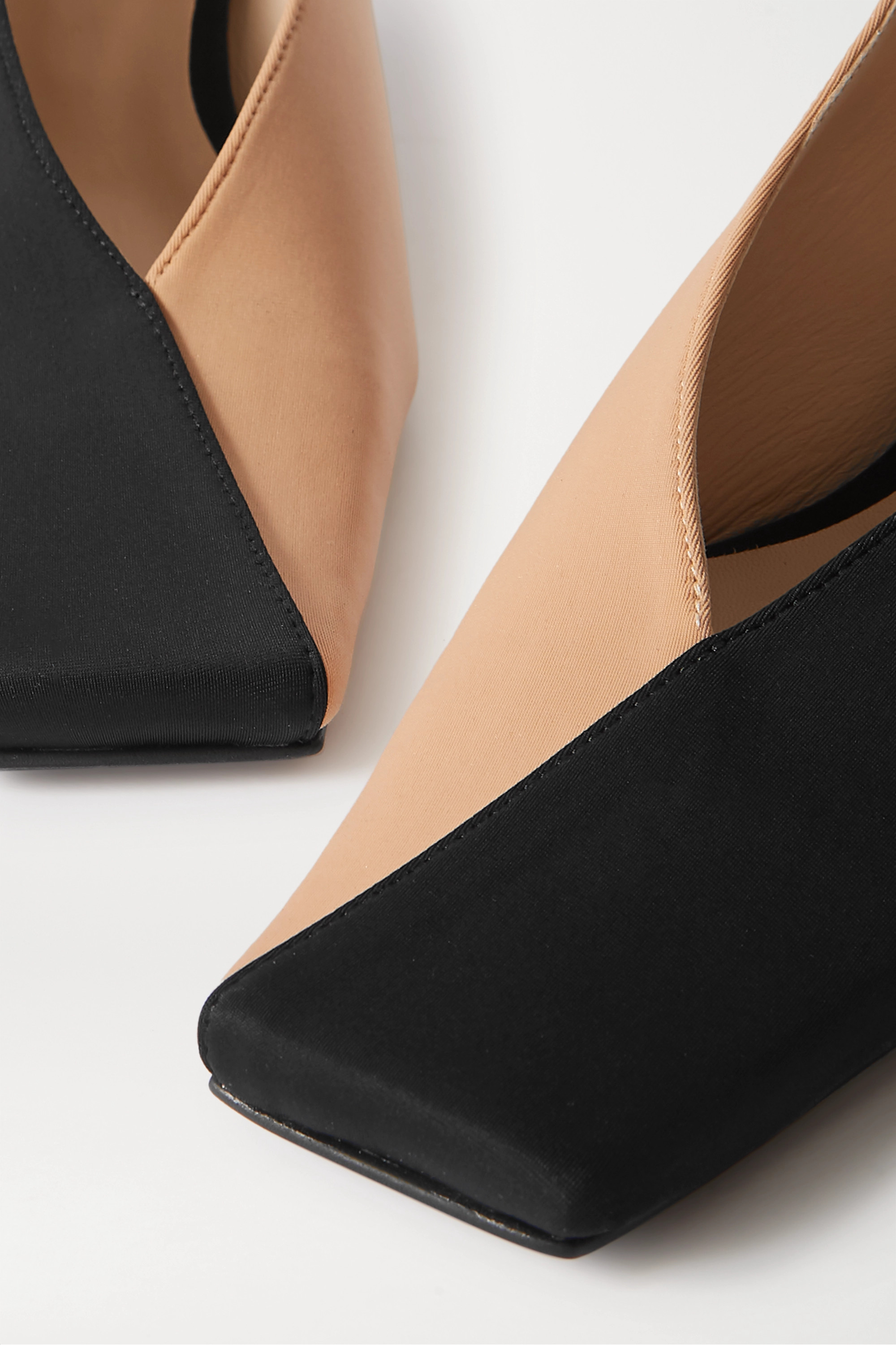 BEVZA Two-tone faille pumps