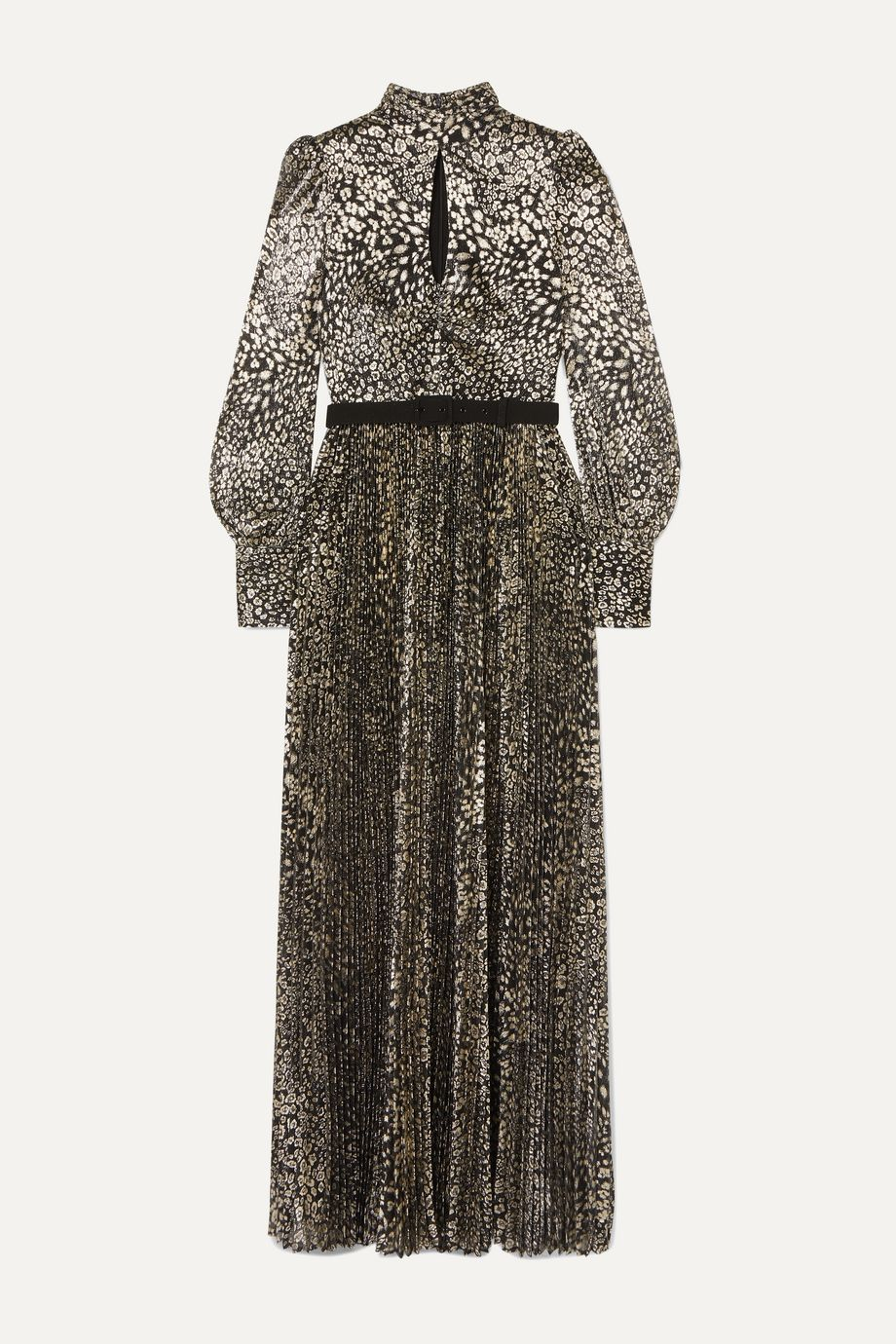 Rebecca Vallance Vienna tie-detailed belted leopard-jacquard maxi dress