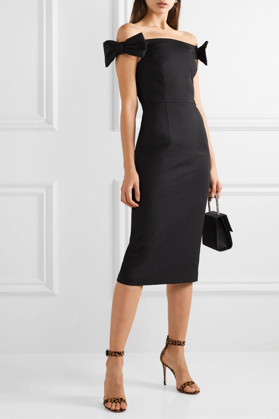 Rebecca Vallance Winslow off-the-shoulder cloqué midi dress