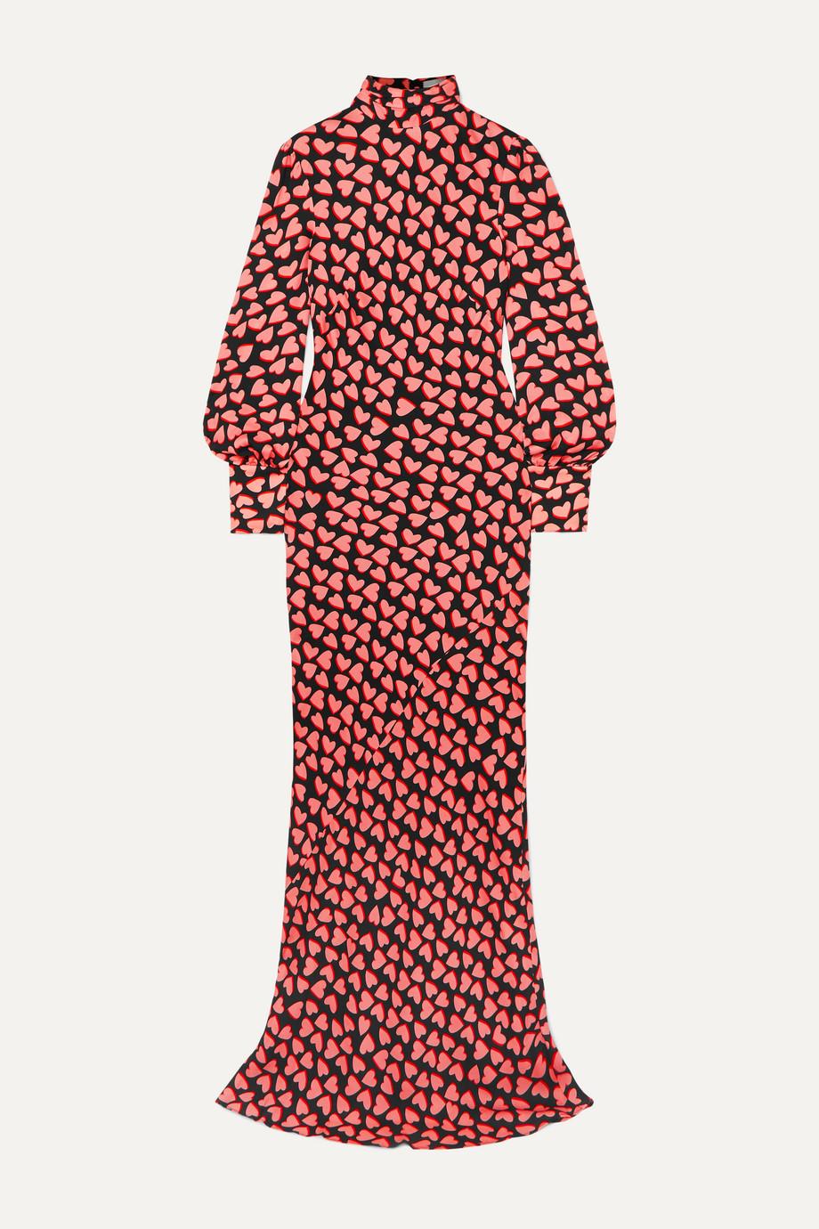 Rebecca Vallance Hotel Beau tie-detailed printed crepe maxi dress