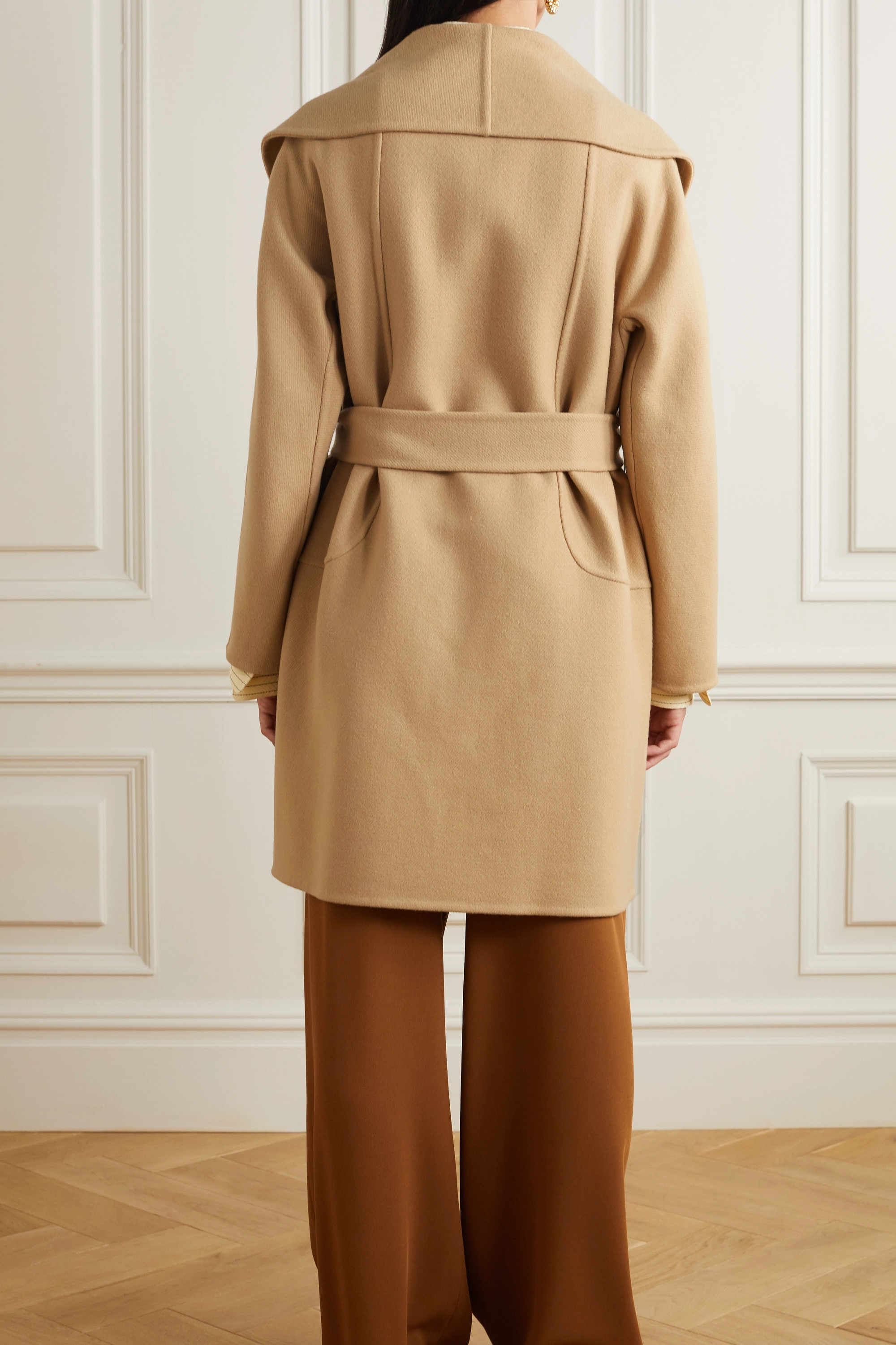 The Row Maddy belted wool-blend coat