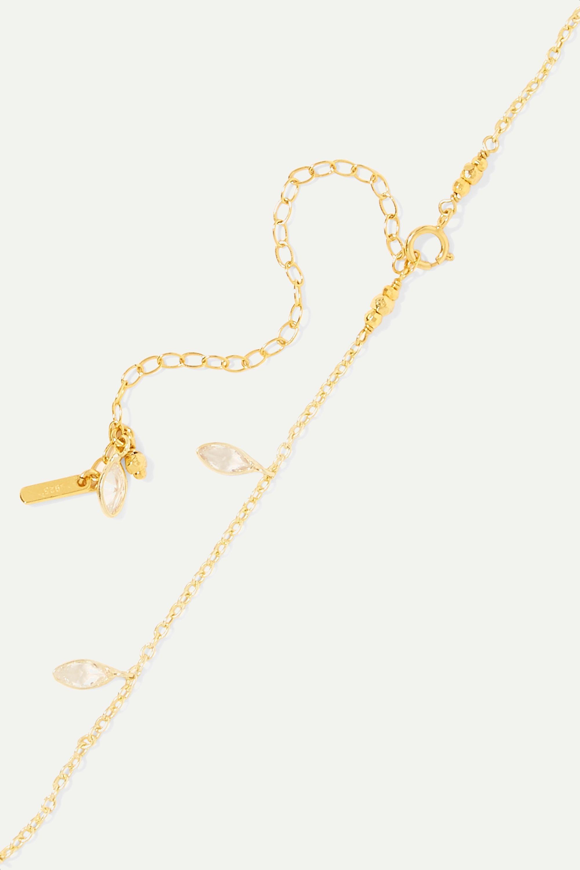 Chan Luu Gold-plated Swarovski crystal necklace