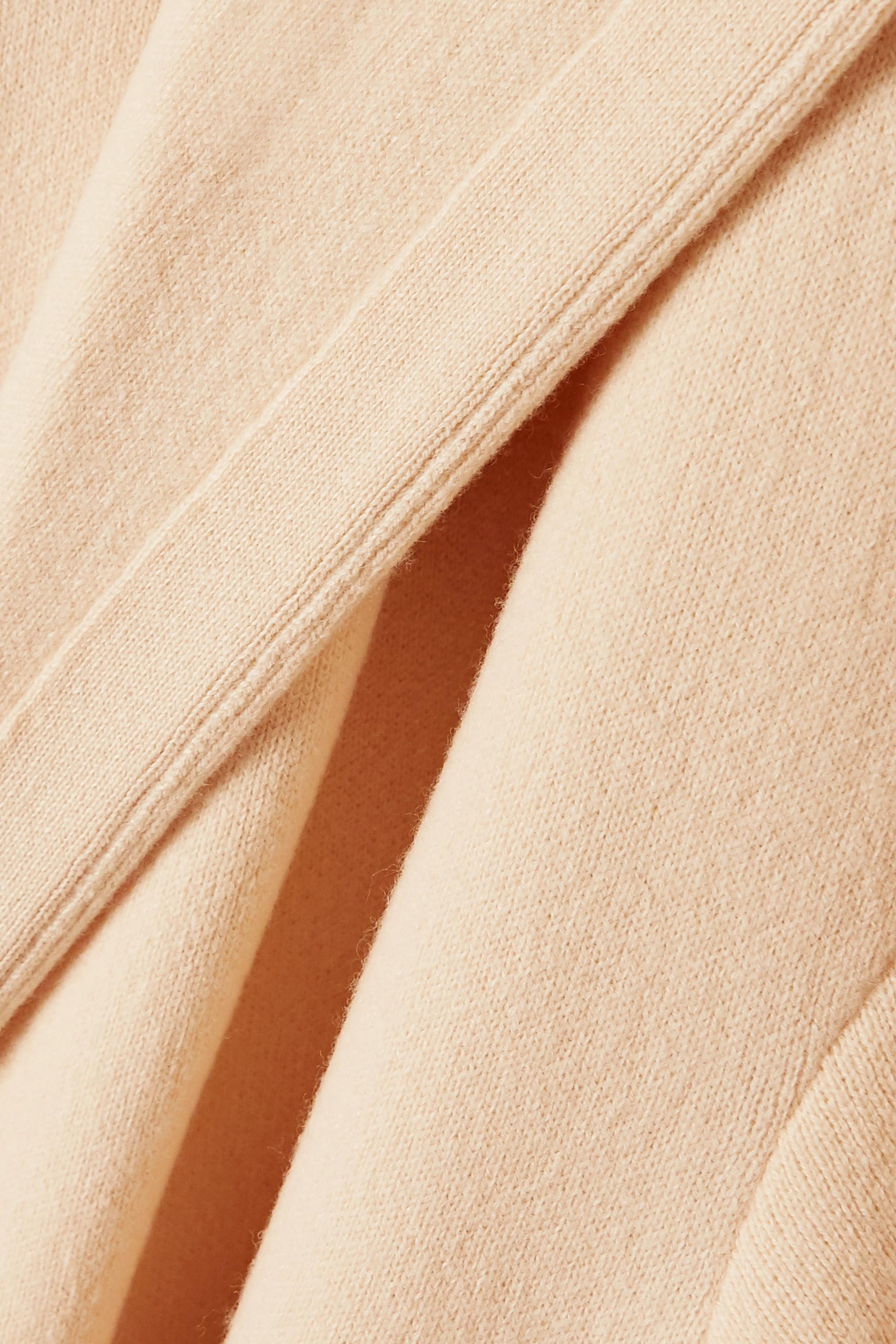 The Row Eliona belted hooded merino wool-blend coat