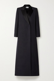 The Row Ivana wool and silk-blend coat
