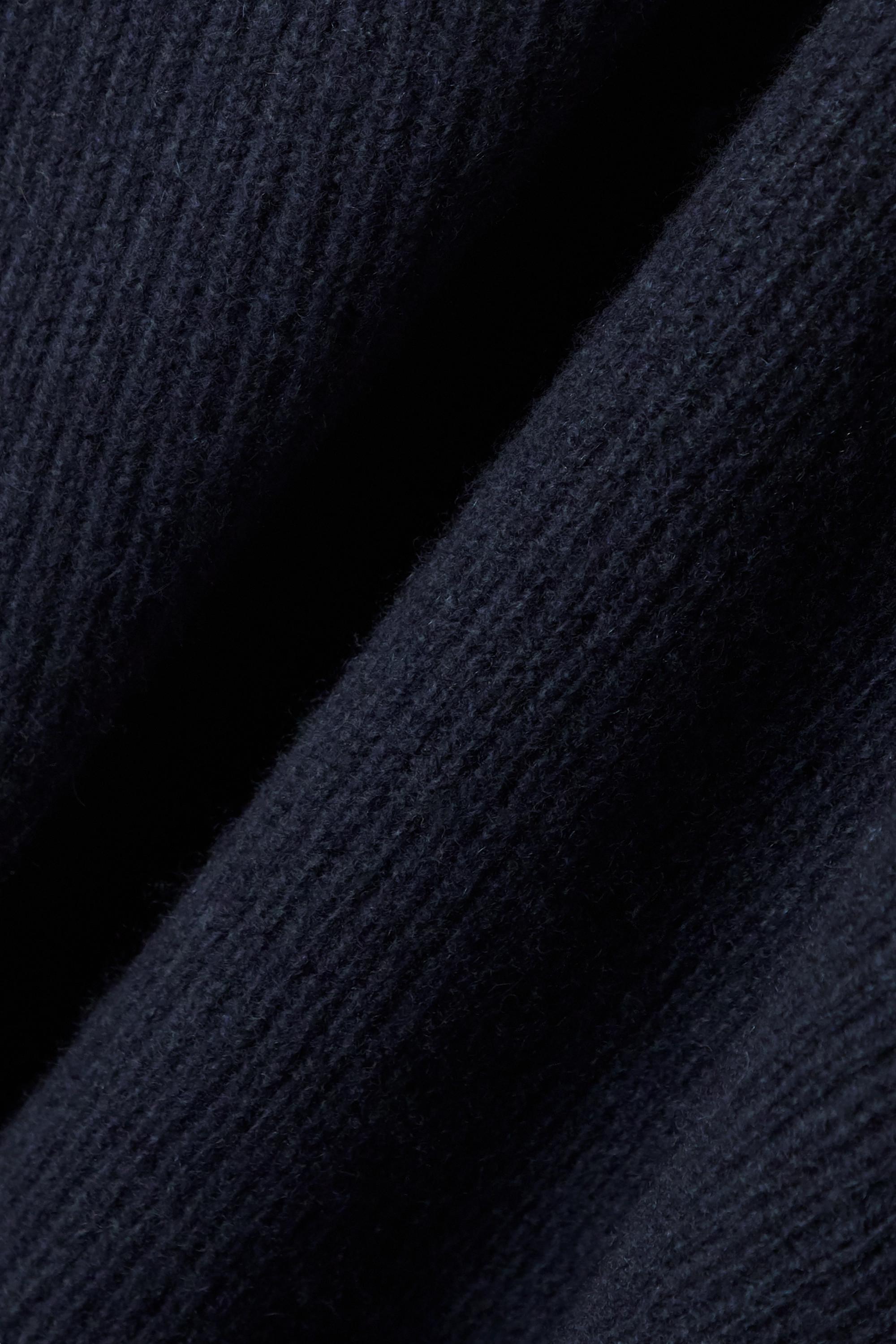 The Row Moa Midikleid aus einer gerippten Woll-Kaschmirmischung mit Stehkragen