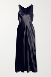 The Row Natasha satin maxi dress