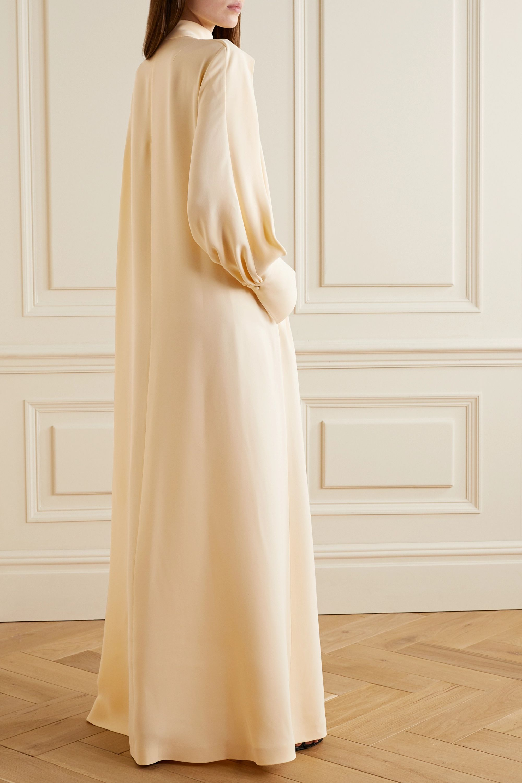 The Row Nandi draped silk gown