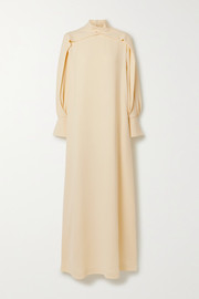 The Row Nandi draped silk gown