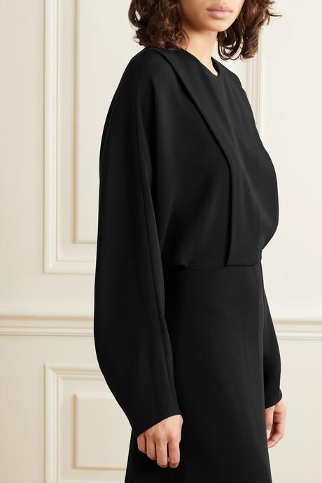 Cobai paneled cady maxi dress
