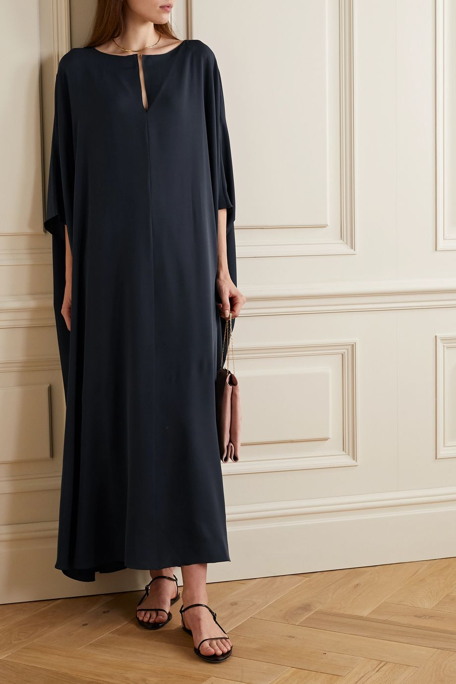 The Row Enrico Kaftan aus Seiden-Georgette