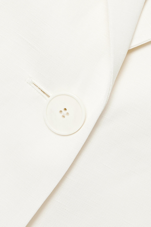 The Row Kiro silk and linen-blend blazer