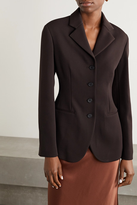 Risa wool-blend crepe blazer