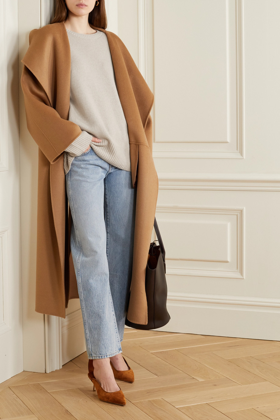 The Row Sibel oversized wool and cashmere-blend sweater