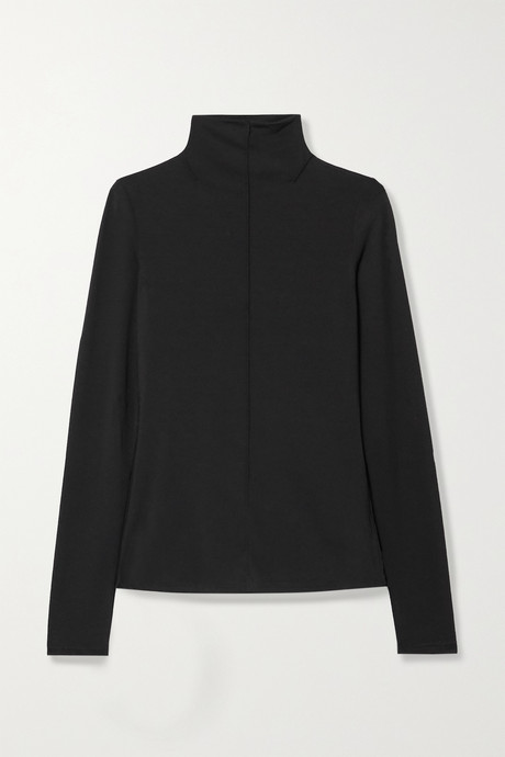 Black Ludek stretch-knit turtleneck top | The Row BU2MZT