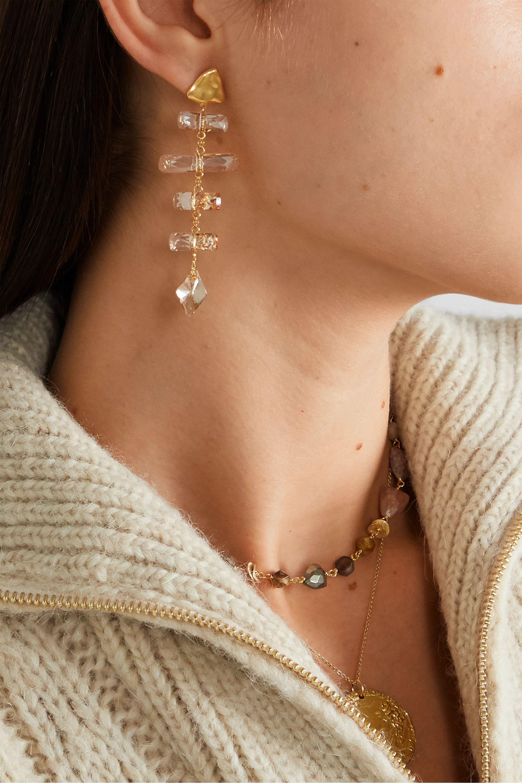 Chan Luu Vergoldete Ohrringe mit Swarovski-Kristallen